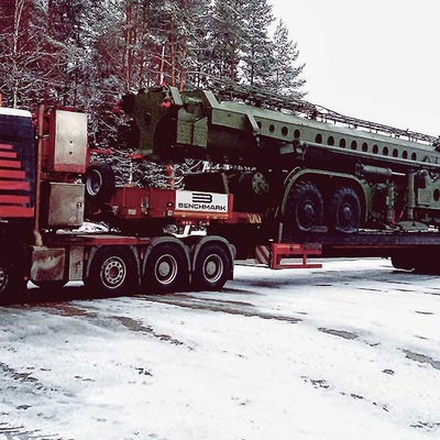 Transportation of the military equipment